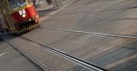 Remont torowiska tramwajowego w ul. Broniewskiego w Warszawie